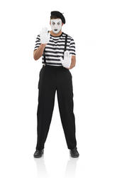 Male Mime Artist Costume