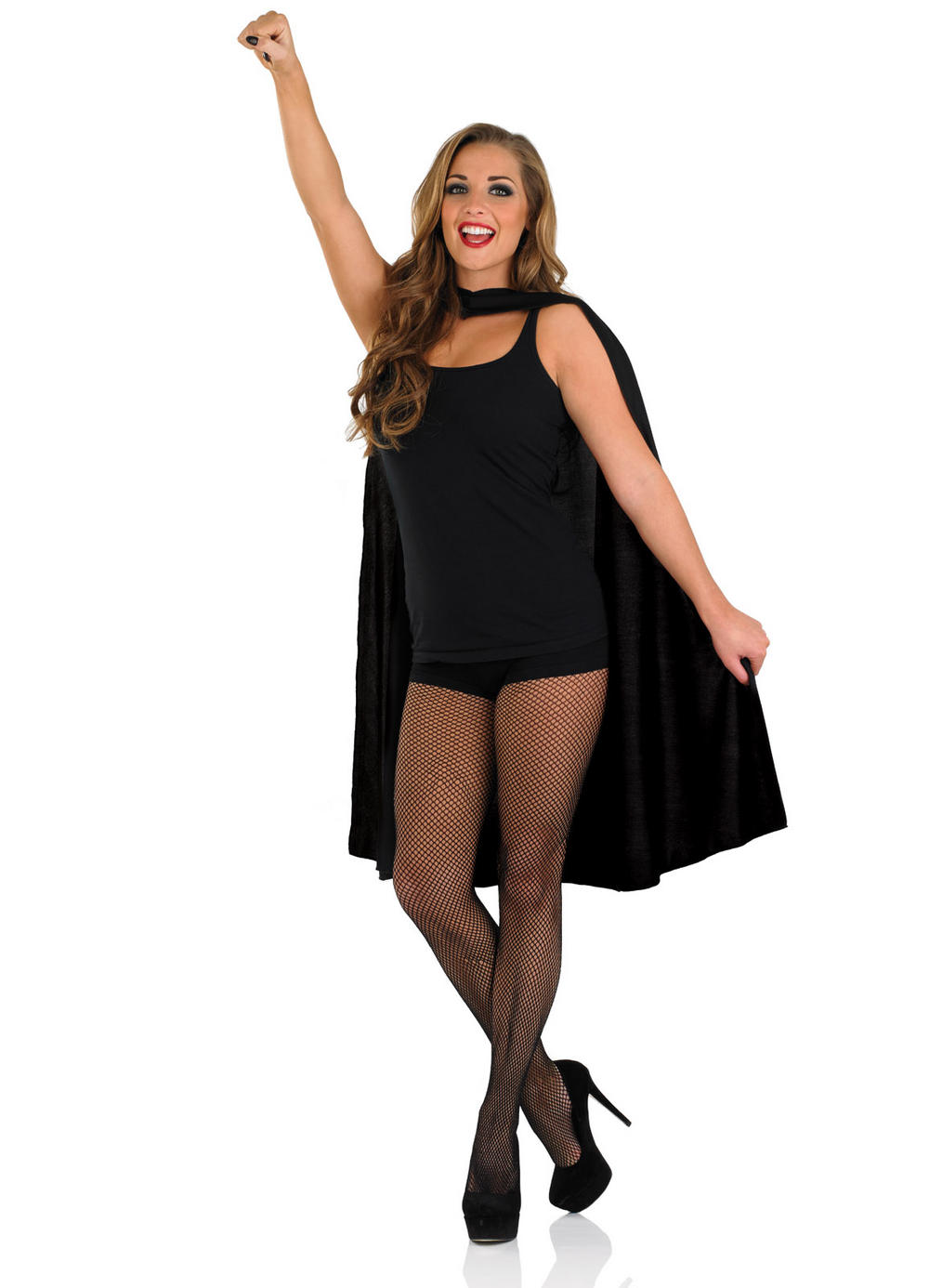 Black Superhero Cape Costume