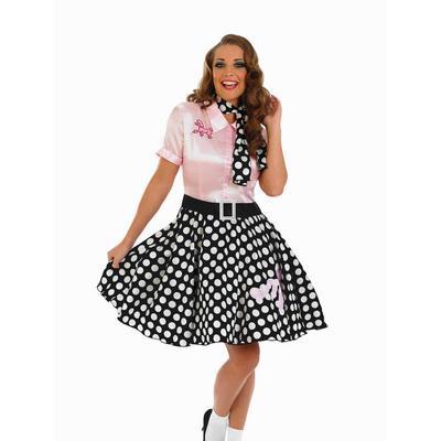 Ladies 1950s Rock N Roll Fancy Dress Costume