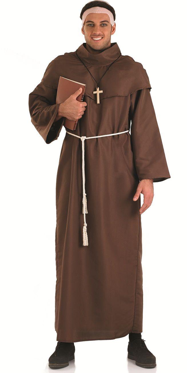 monk robe fantaisie homme religieux saints et p cheurs adulte costume m di val costume ebay. Black Bedroom Furniture Sets. Home Design Ideas