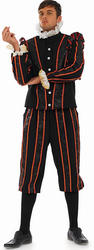 Mens Tudor Earl Fancy Dress Costume