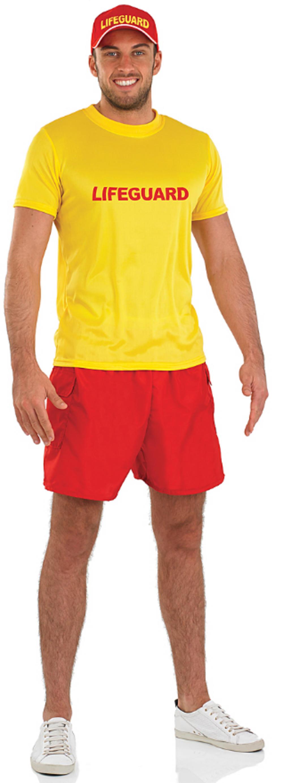 Male Lifeguard Fancy Dress Costume