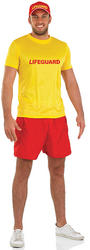 Male Lifeguard Fancy Dress Costume