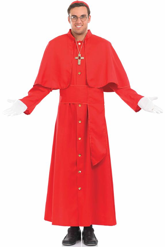 cardinal pope saints sinners catholic religious fancy dress adult mens costume ebay. Black Bedroom Furniture Sets. Home Design Ideas