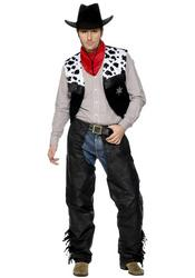 Mens Leather Cowboy Costume