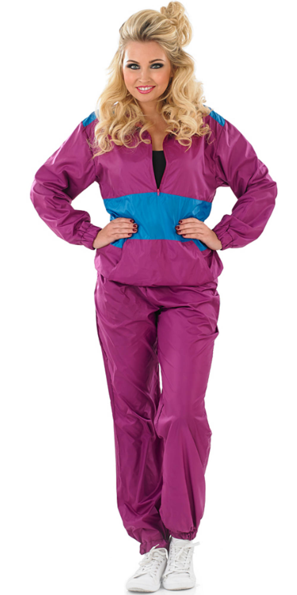 Ladies Shell Suit Fancy Dress Costume