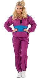 Ladies Shell Suit Fancy Dress Costume