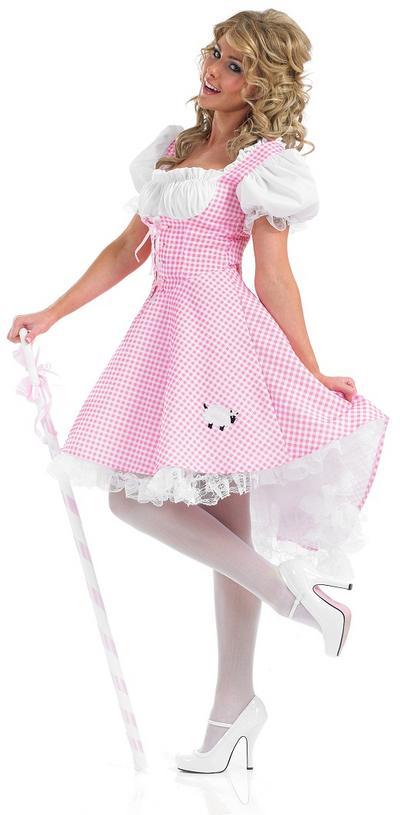 Ladies Bo Peep Longer Length Costume