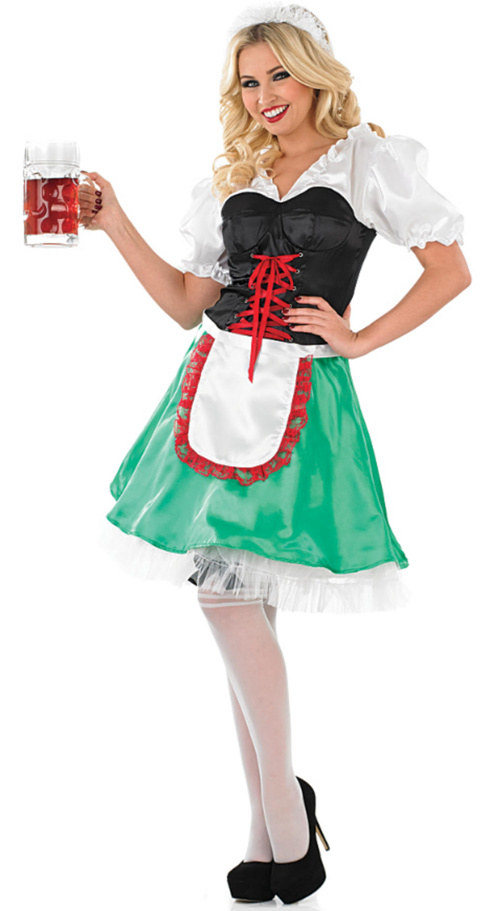 Ladies Sexy Bavarian Girl Fancy Dress Costume