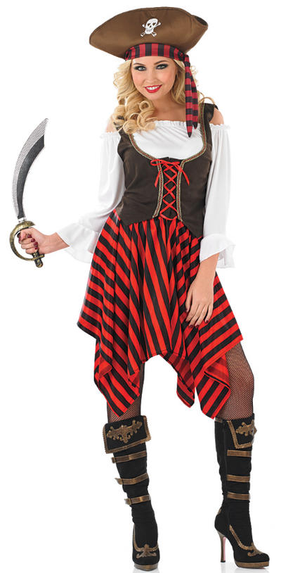 Ladies Pirate Girl Fancy Dress Costume