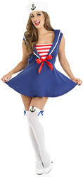Ladies Sexy Sailor Girl Fancy Dress Costume
