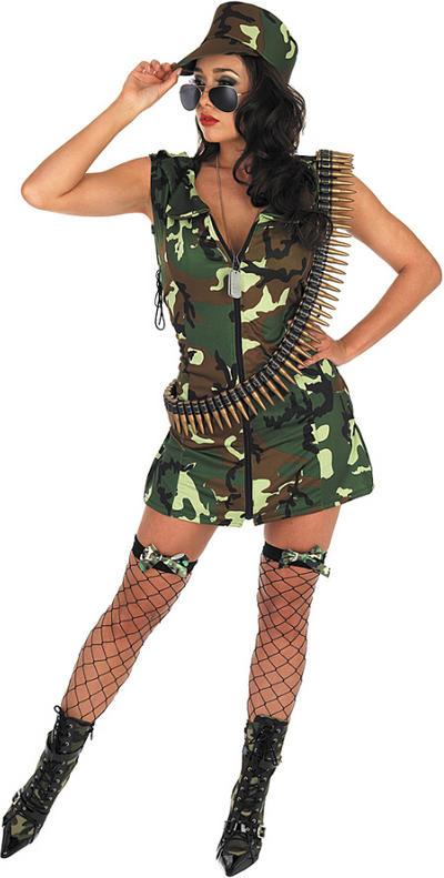 Ladies Army Girl Costume