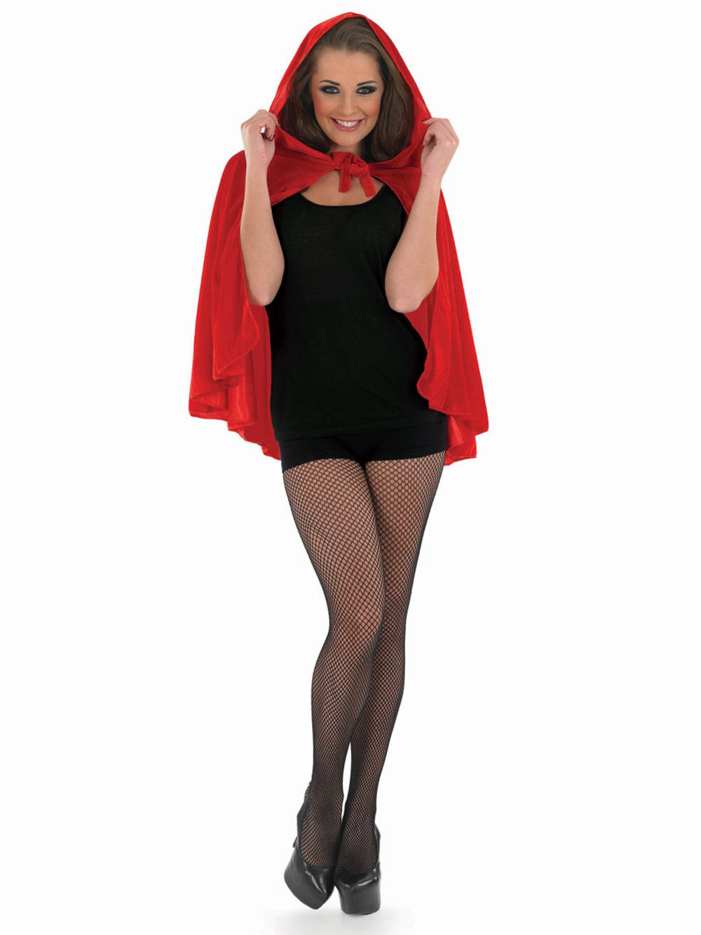 Ladies Red Riding Hood Cape Fancy Dress Accessory