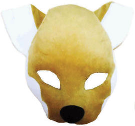 Fox Mask with Sound Fancy Dress Accessory