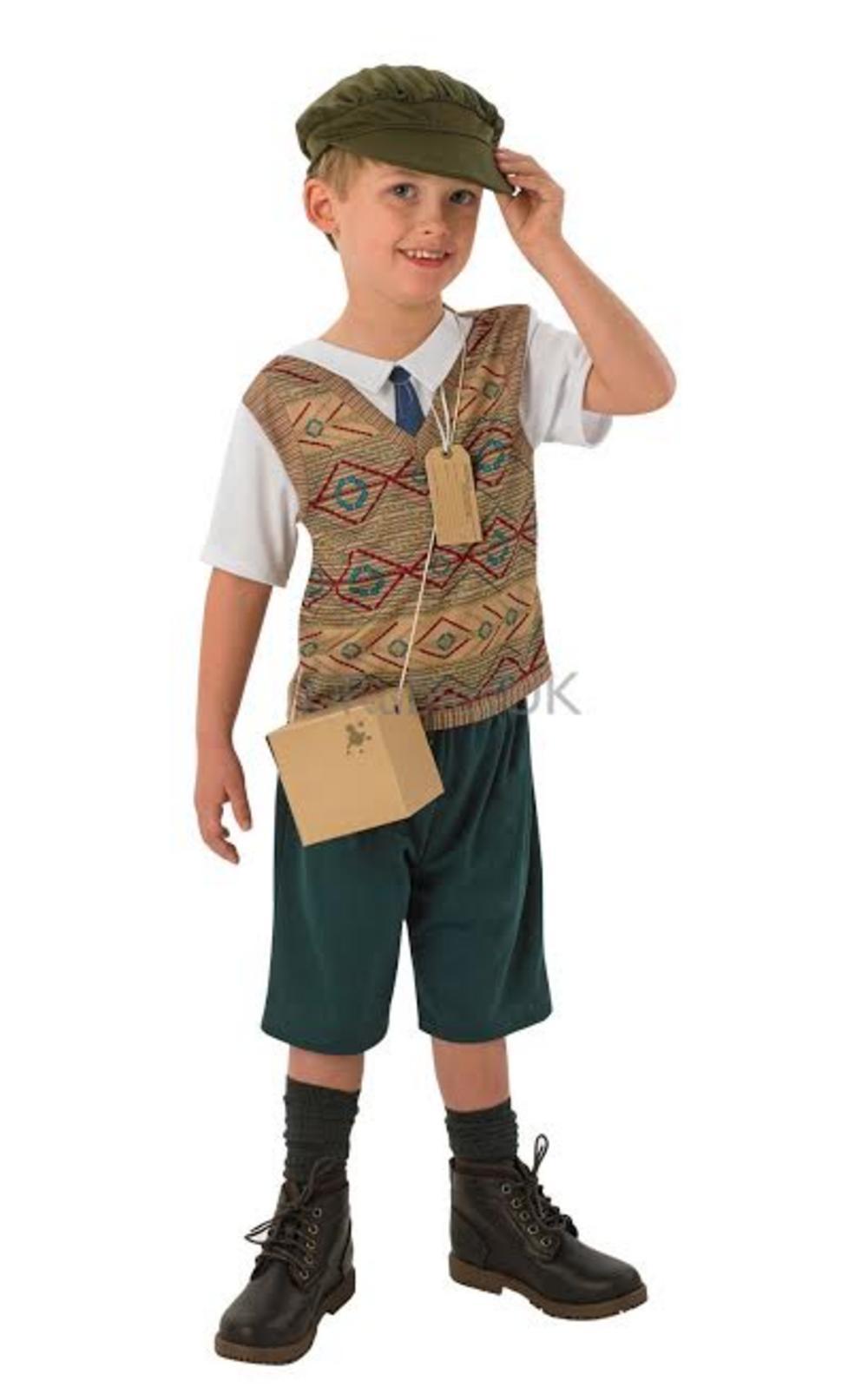 Boys Evacuee Fancy Dress Costume