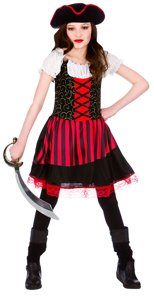 Girls Pretty Pirate Girl Costume Pirate Fancy Dress Costumes