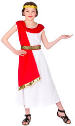 Girls Ancient Roman Woman Costume