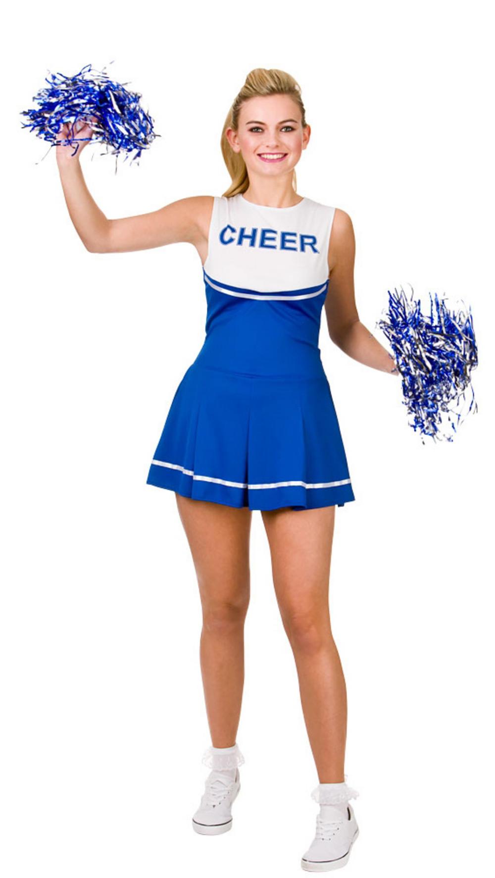 Blue/White Cheerleader Costume