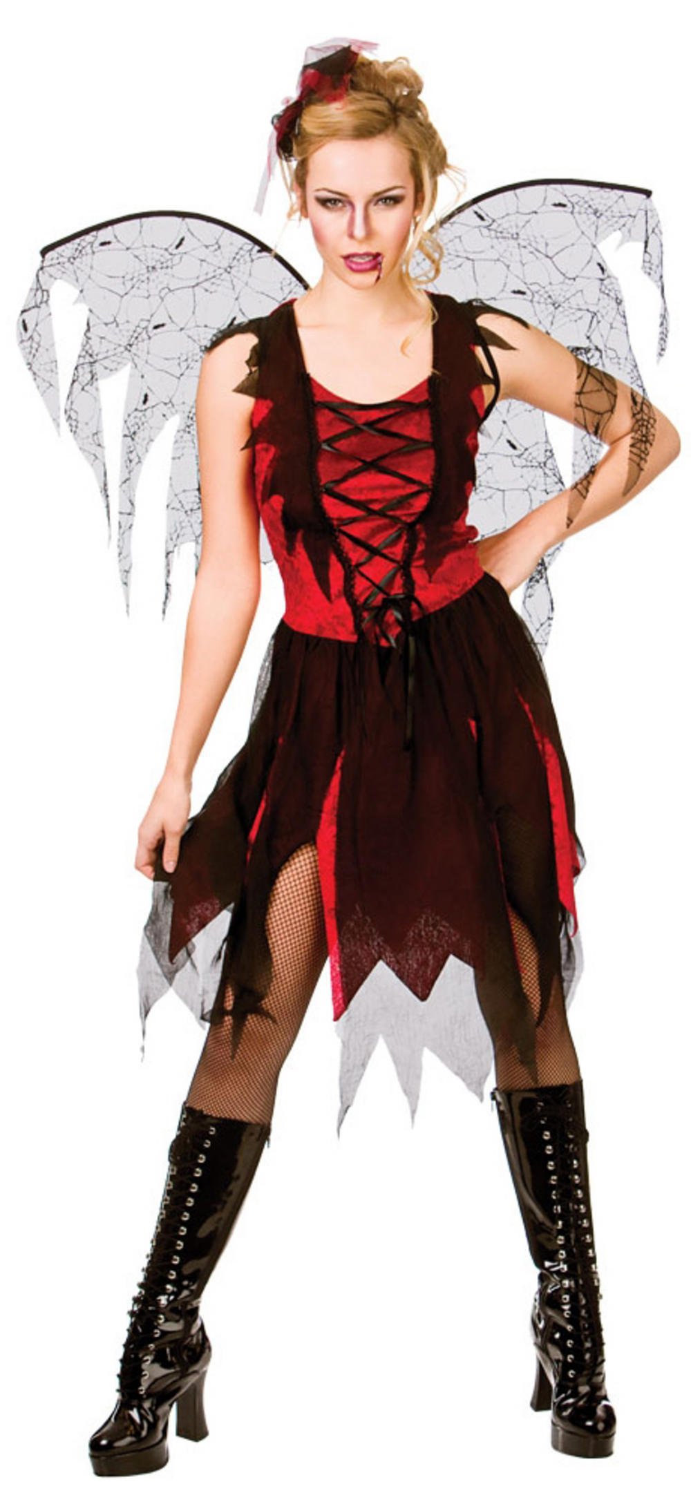 Ladies Goth Vamp Fairy Costume