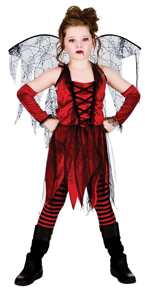 Halloween Vampire Costume Kids.Girls Vampire Fairy Costume