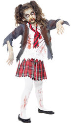 Zombie School Girl Fancy Dress