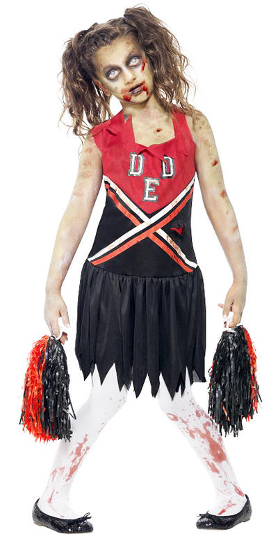 Zombie Cheerleader Fancy Dress