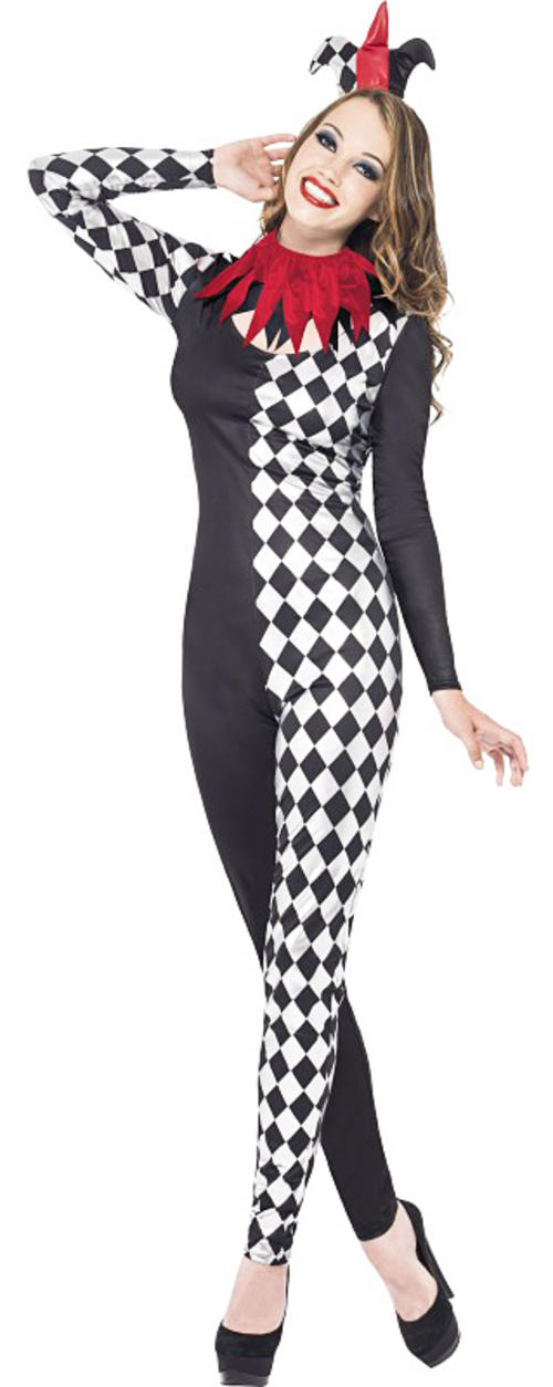Fever Harlequin Jester Costume