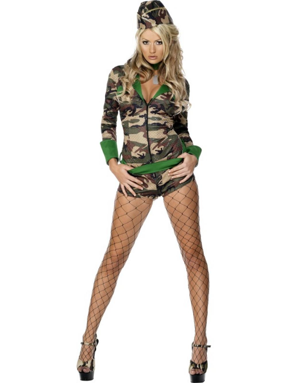 Ladies' Combat Chick Fancy Dress Costume