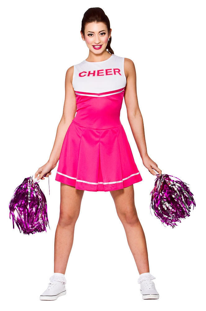 High School Cheerleader Ladies Fancy Dress Sports Uniform Womens ...
