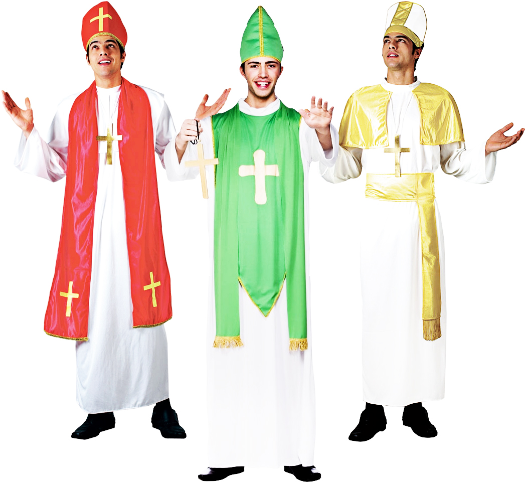 Religious Cardinal Mens Fancy Dress Holy Man Priest Saints  Sinners Costume New  eBay