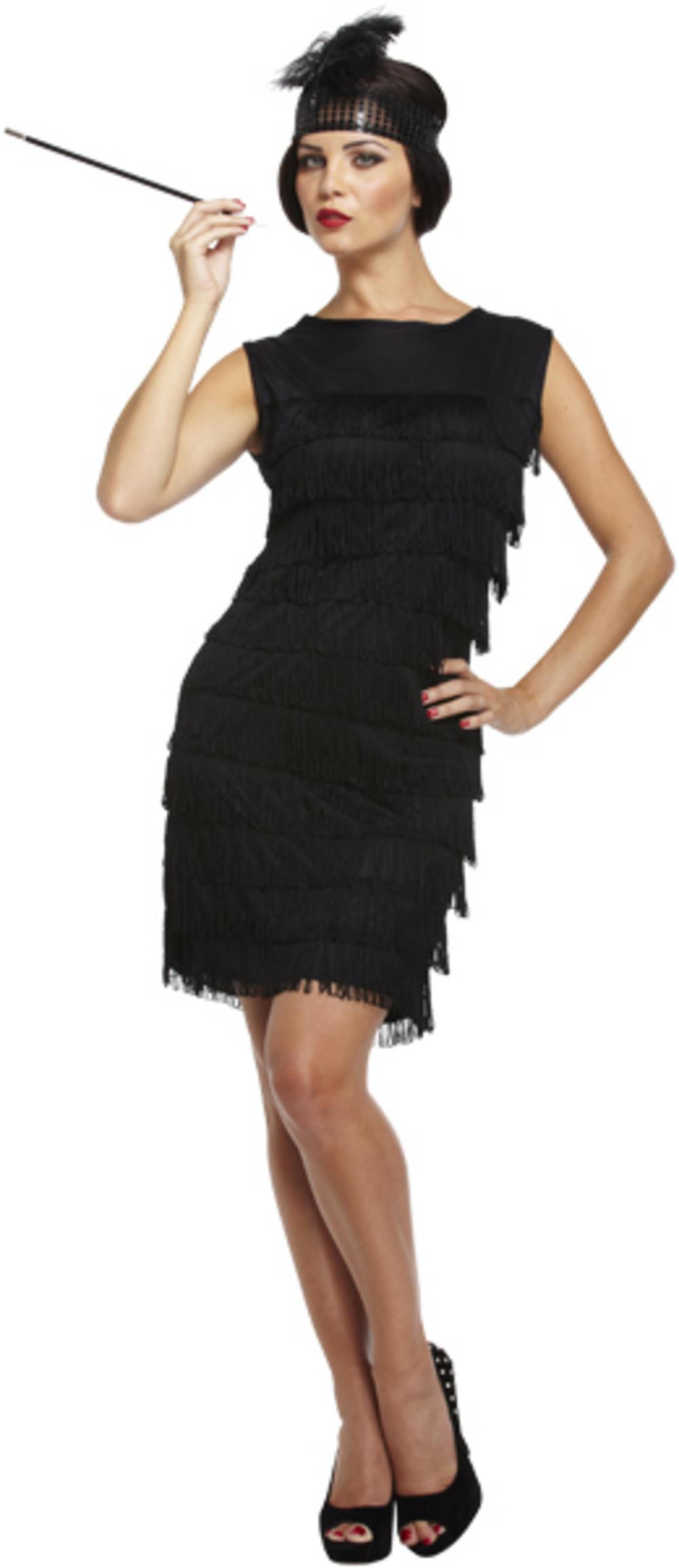 Black Flapper Lady Costume