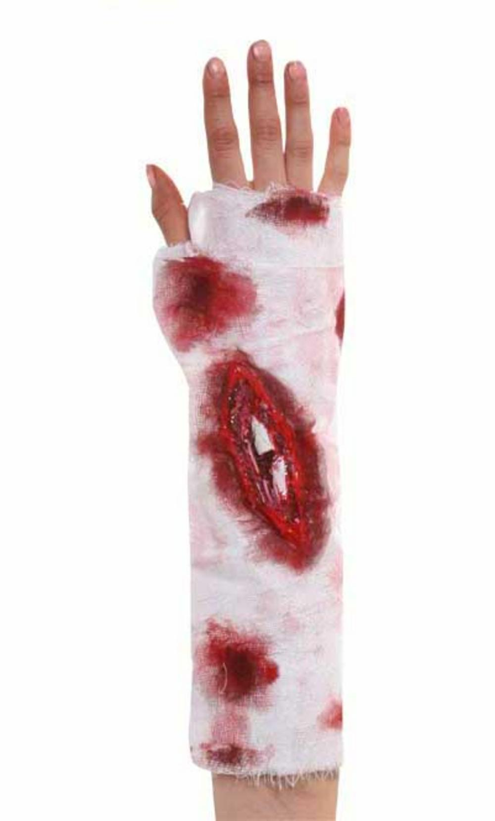 Bandage with Blood & Latex Wound Costume