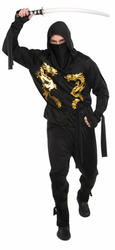 Adults Black Dragon Ninja Costume