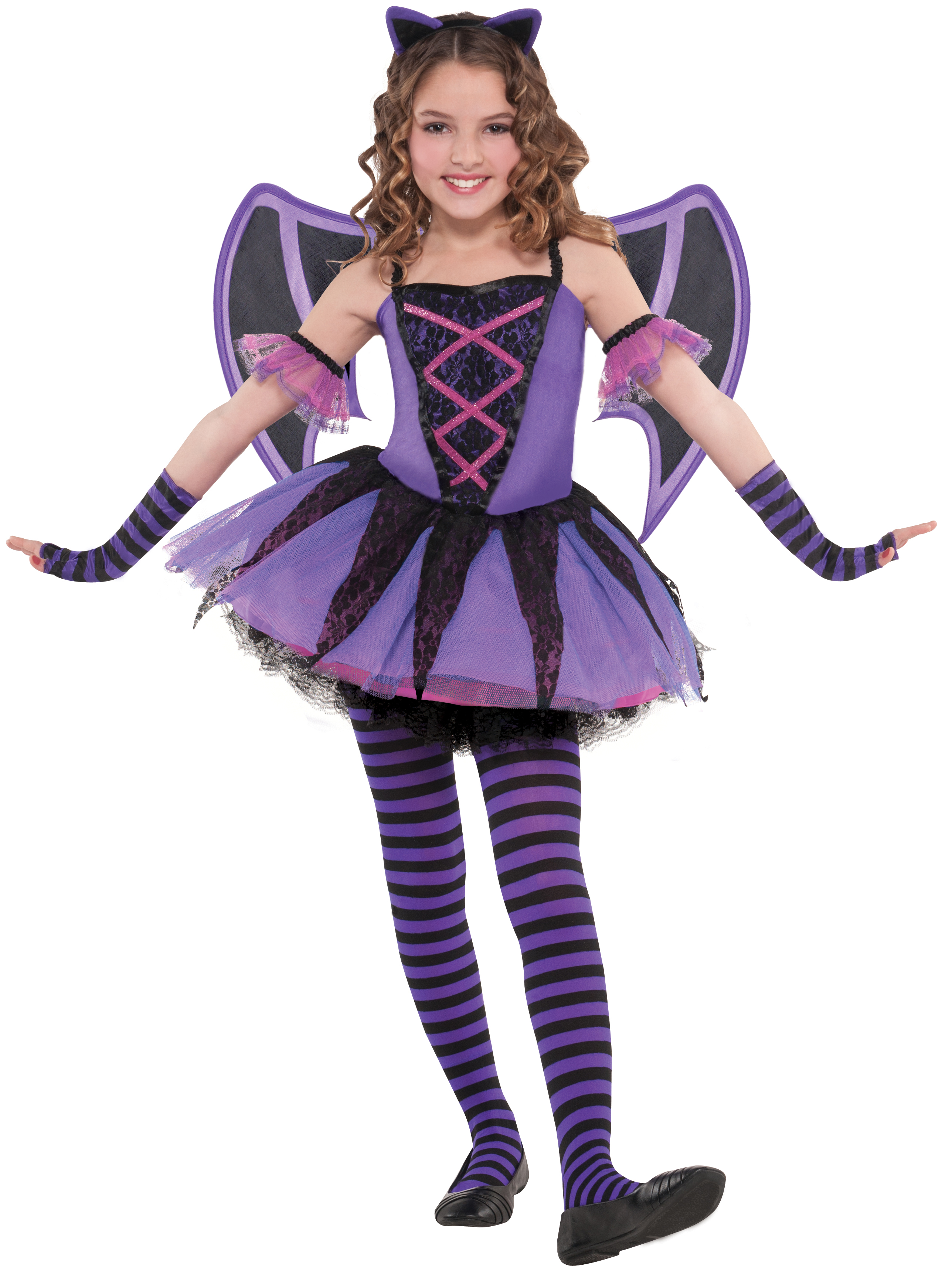 sentinel ballerina bat wings age 3 10 girls halloween fancy dress childs kids costume