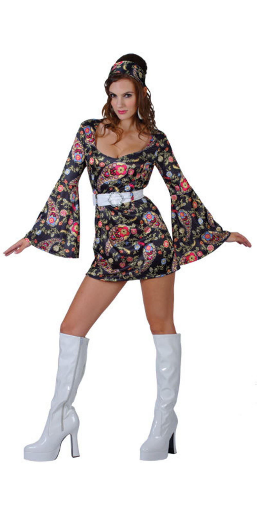 Ladiesu0026#39; 1960s Retro Hippy Girl Fancy Dress Costume | All Ladies Costumes | Mega Fancy Dress