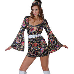 Ladies' 1960s Retro Hippy Girl Fancy Dress Costume