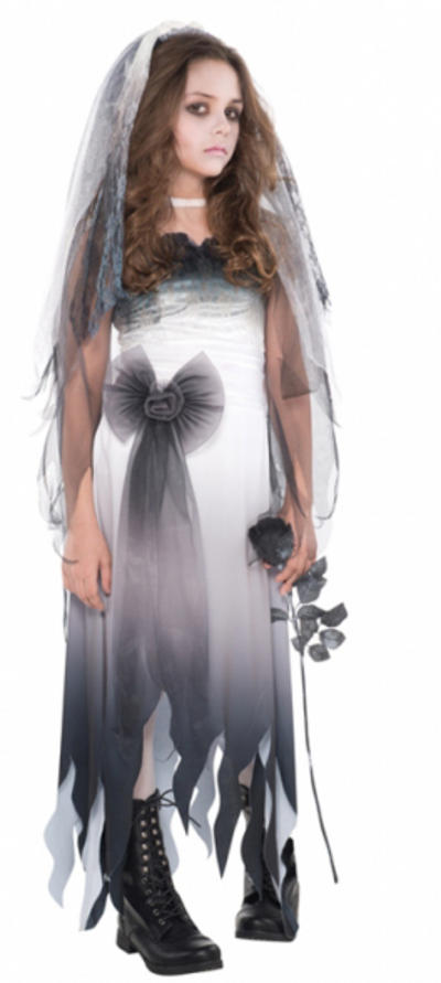 Teens Graveyard Bride Zombie Costume