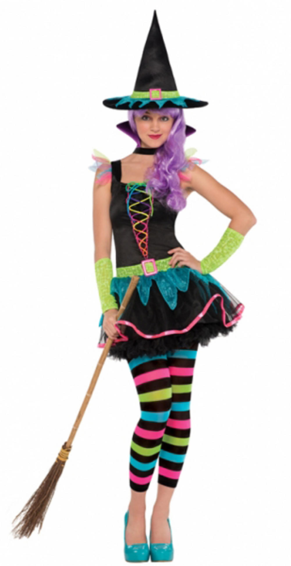 Teens Neon Witch Costume