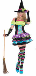 Adults Pop Neon Witch Costume