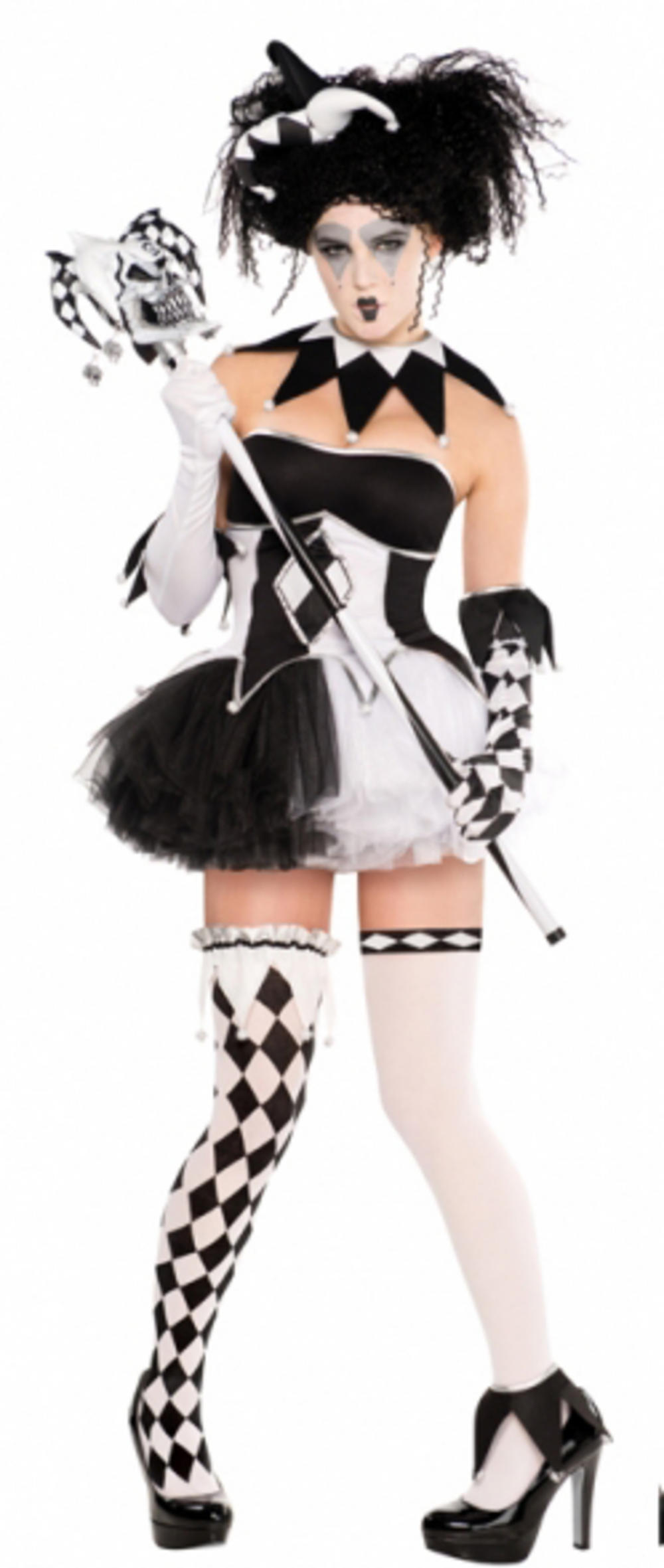 Adults Tricksterina Clown Costume