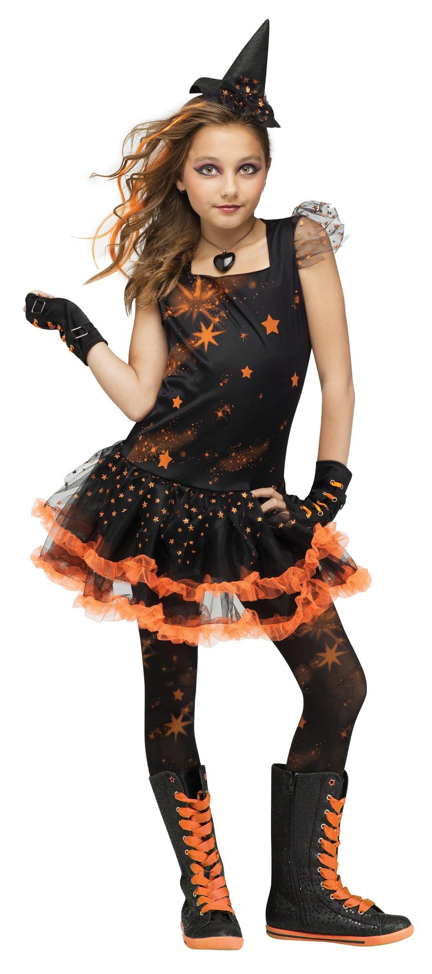 e2a0b9b2981 Girls Sparkle Star Witch Costume