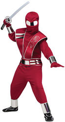 Red Fire Lord Mirror Ninja Costume