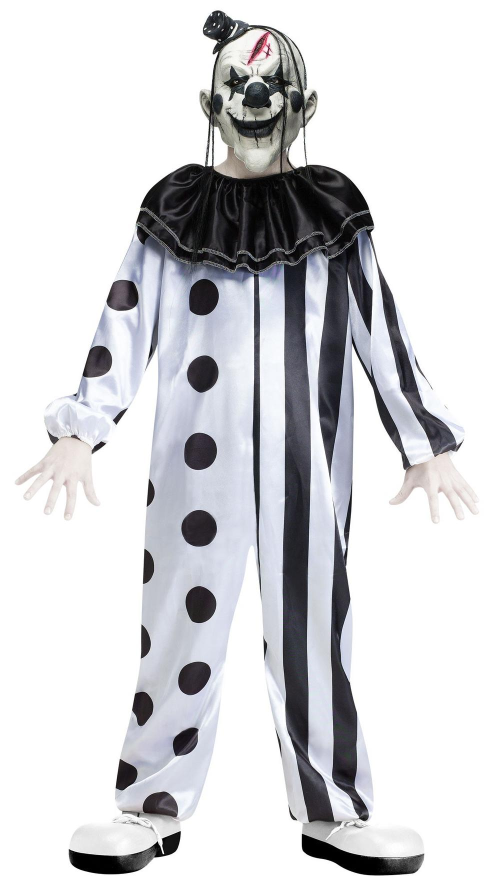 boys killer clown costume all halloween mega fancy dress. Black Bedroom Furniture Sets. Home Design Ideas