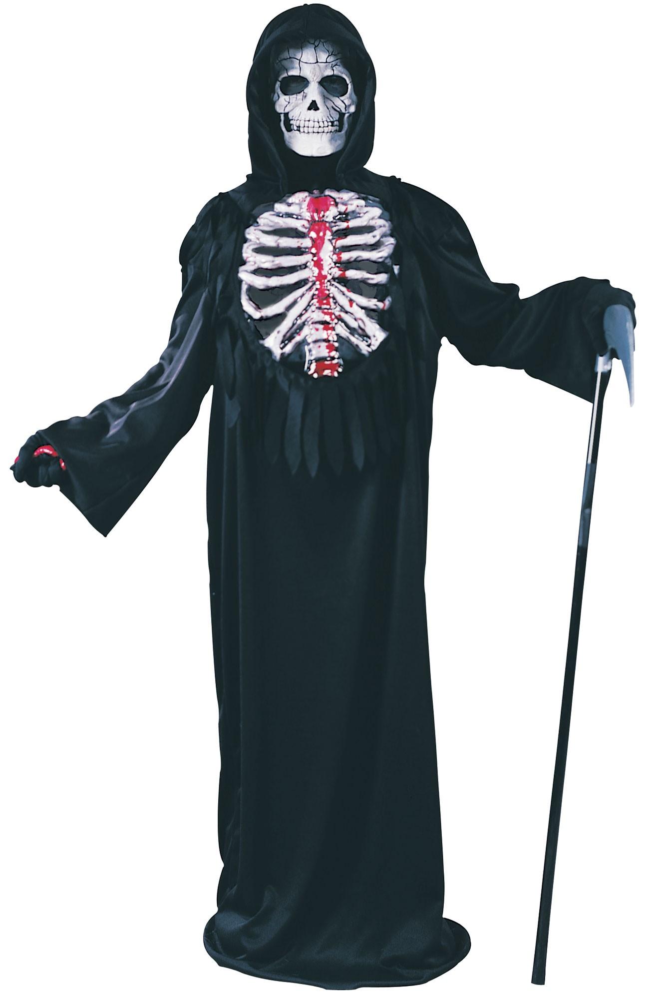 Halloween Skeleton Costume Kids.Bleeding Skeleton Costume