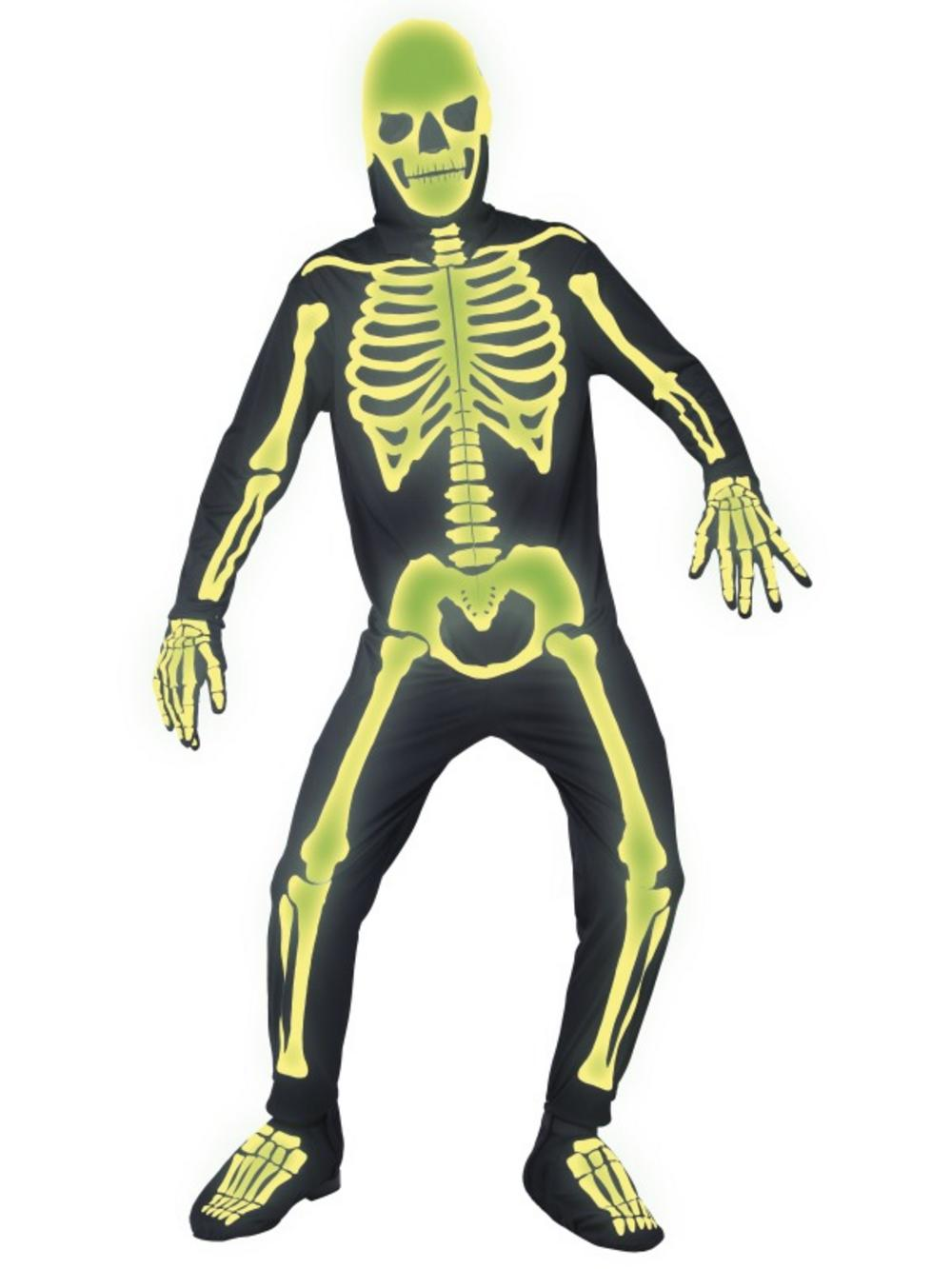 Glow in the Dark Skeleton Halloween Costume