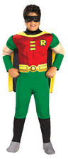 Boy's Teen Titans Deluxe Muscle Chest Robin Costume