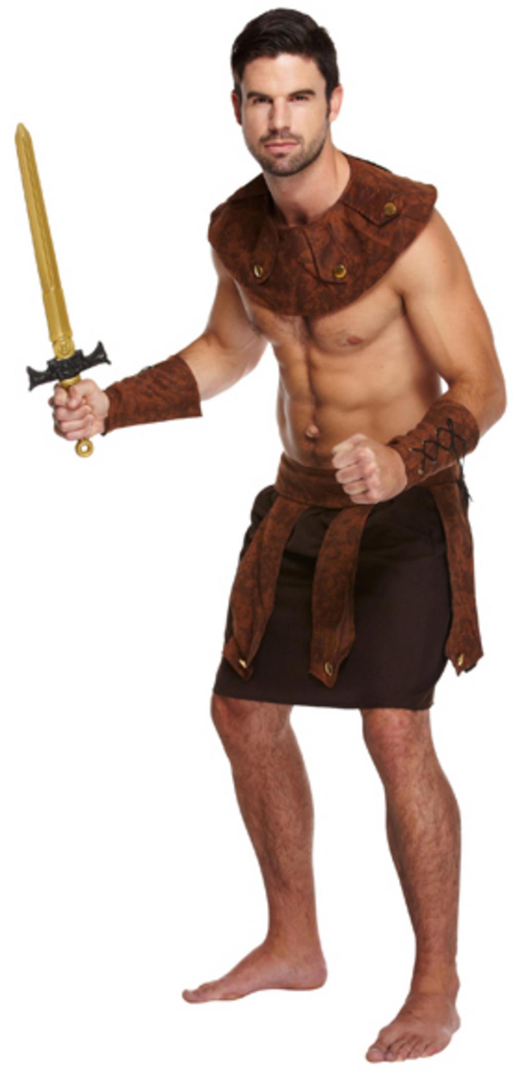 Mens Greek Soldier Costume Adult Book Day Fancy Dress Mega Fancy