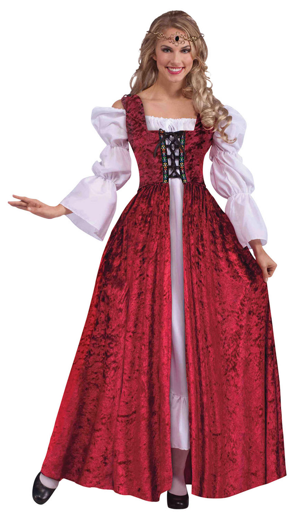 Ladies Medieval Lace Up Gown Costume