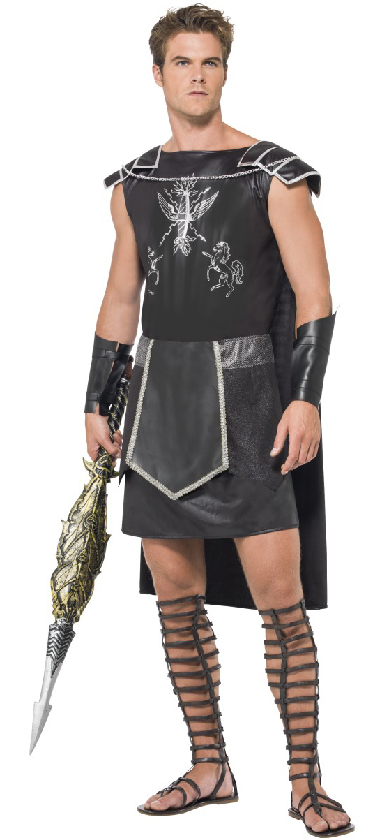 Fever Male Dark Gladiator Costume  sc 1 st  Mega Fancy Dress & Fever Male Dark Gladiator Costume | Letter
