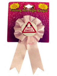Pink Hen Party Badge With Lights